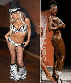 Jodie Marsh has swapped the curves for the muscles