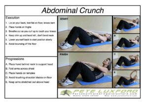 How to perform an abdominal crunch