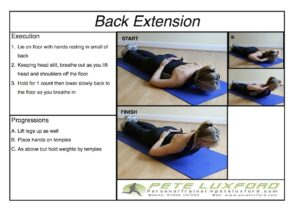 How to perform a back extension