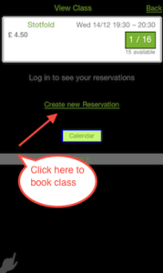 Enter your name and number, and then select Create New Reservation