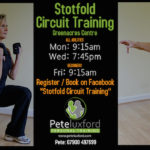 Circuit Training in The Greenacres Centre, Stotfold. Mon & Fri 9:15am, Weds 7:45pm.