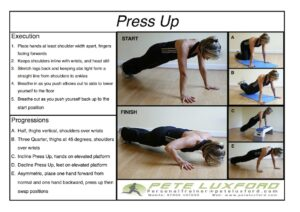 How to perform a press up